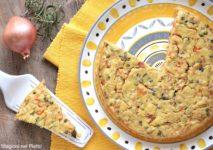 torta salata con grano cotto e verdure di stagione