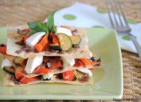 lasagnetta di pasta fillo con verdure e bufala affumicata