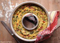 ciambella salata di ricotta con spinaci e mortadella
