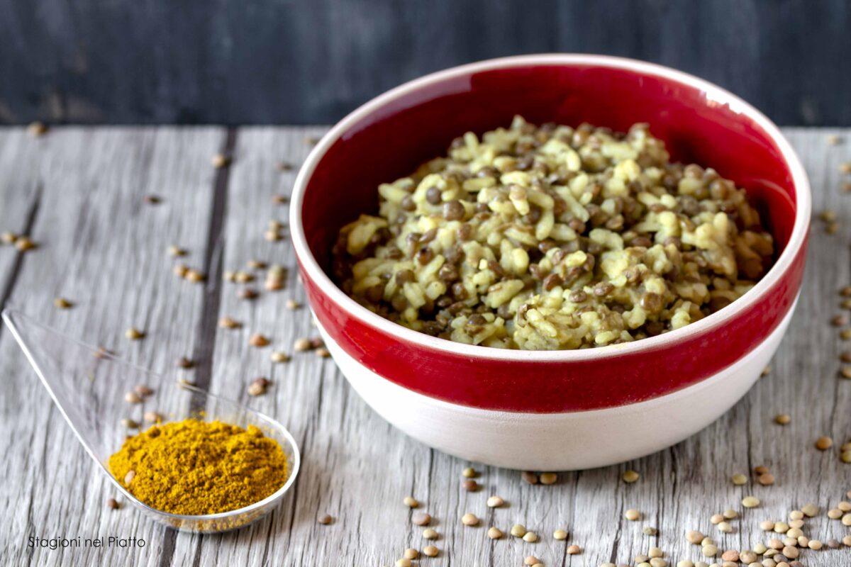 Risotto con lenticchie e curcuma