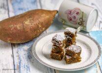 dolcetti di patate dolci stagioni nel piatto
