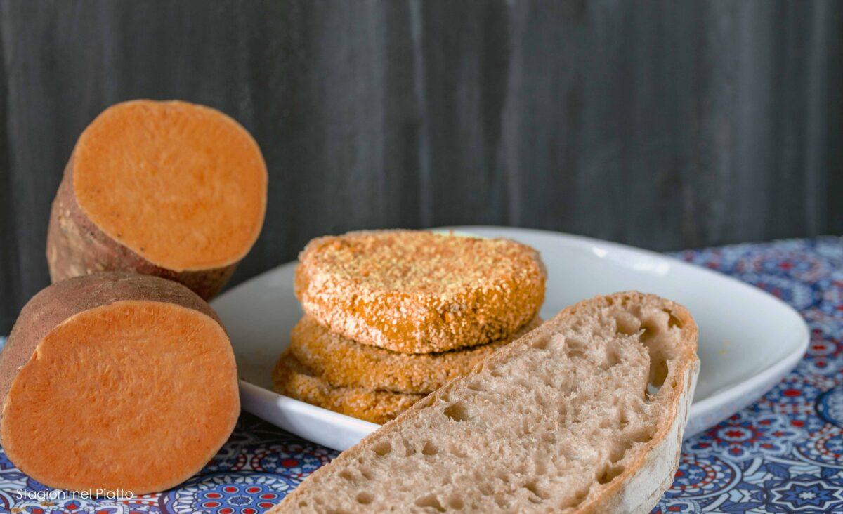 burger di patate dolci e ceci