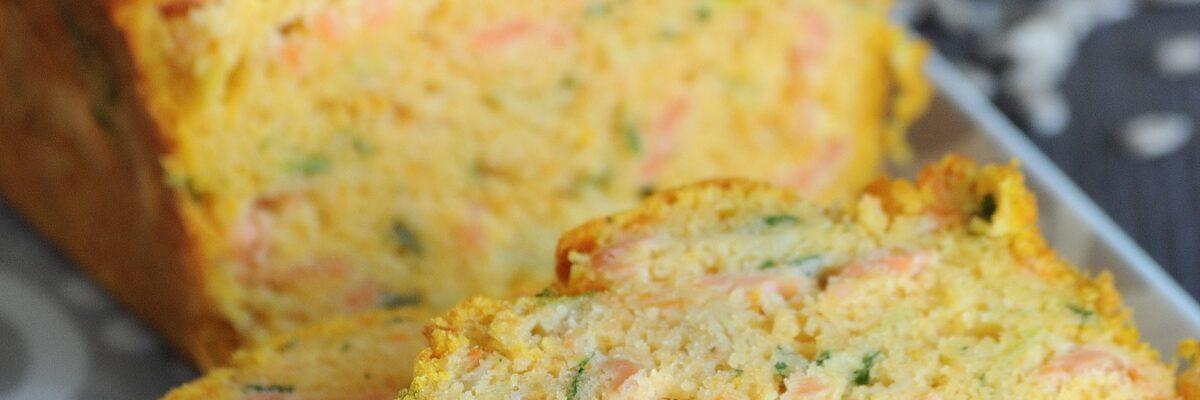 Plumcake di patate dolci, porri e salmone