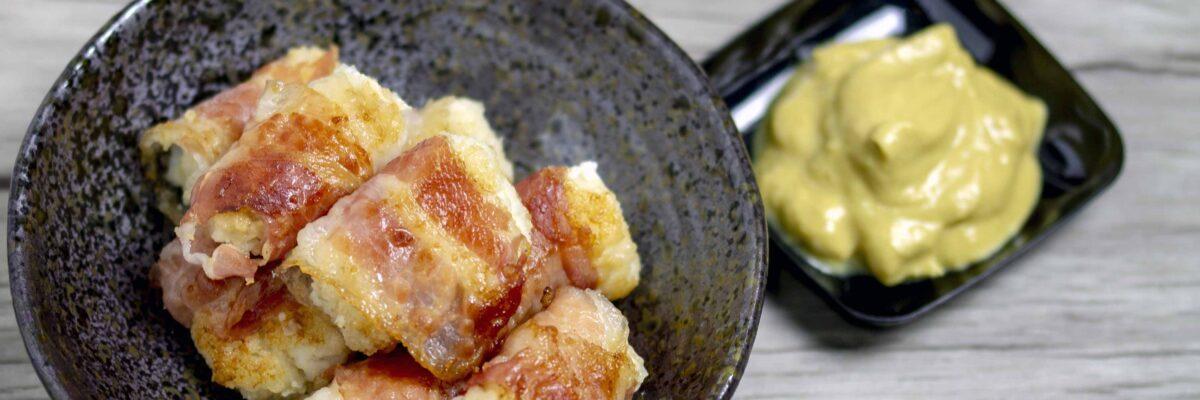 Bocconcini di rana pescatrice con pancetta