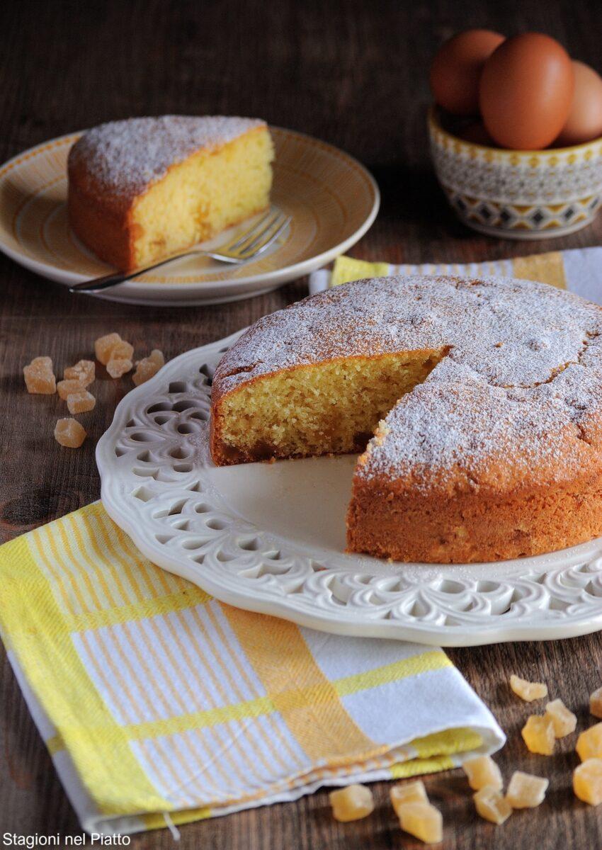 torta allo zenzero candito