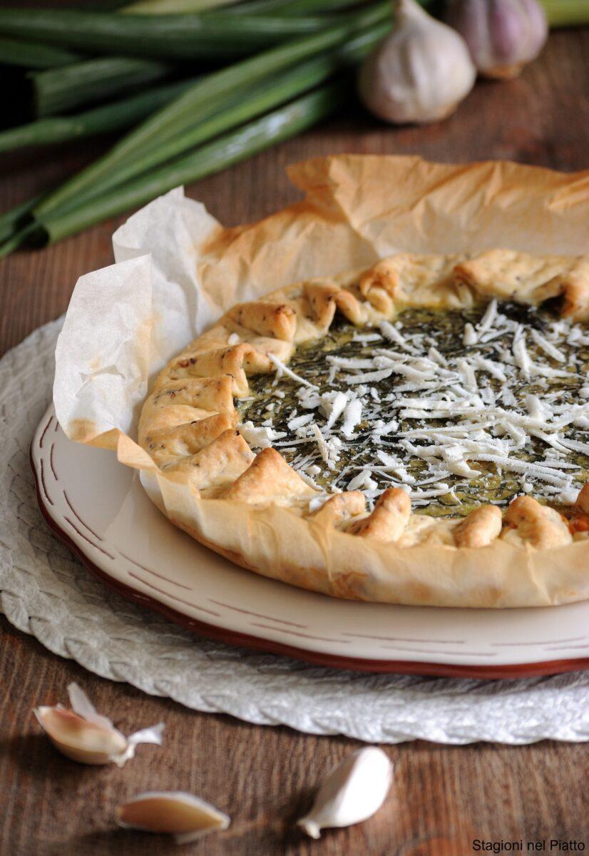 torta salata con agretti e ricotta salata