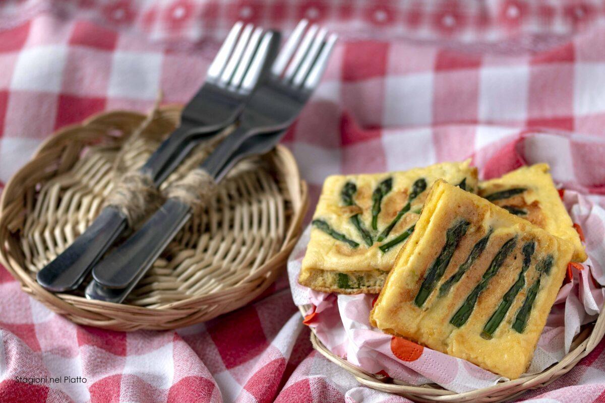 frittatine con asparagi