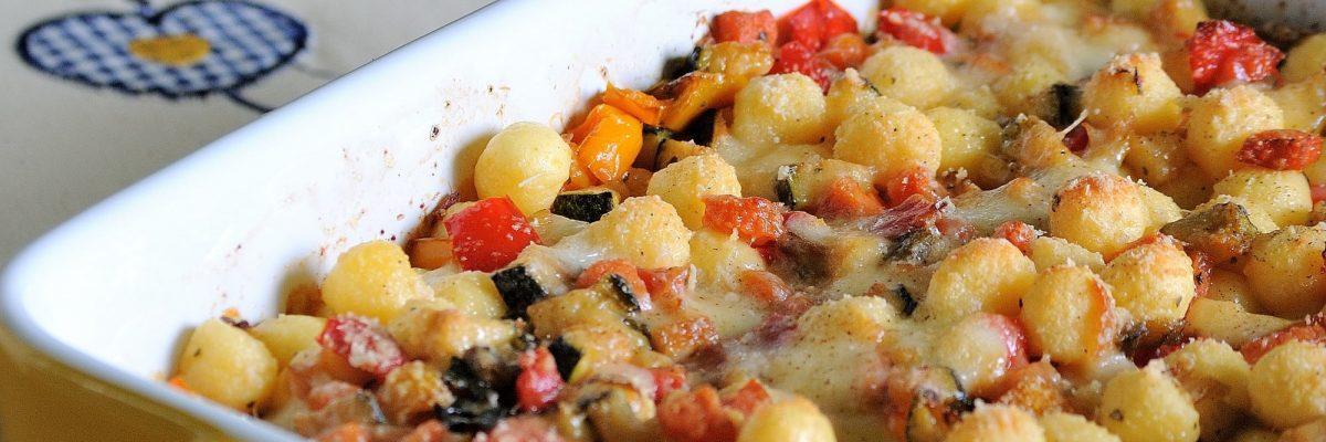 Gnocchi gratinati al forno con verdure estive