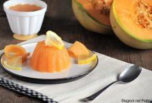 budino di melone, limone e menta