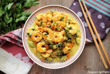 curry di gamberi e verdure