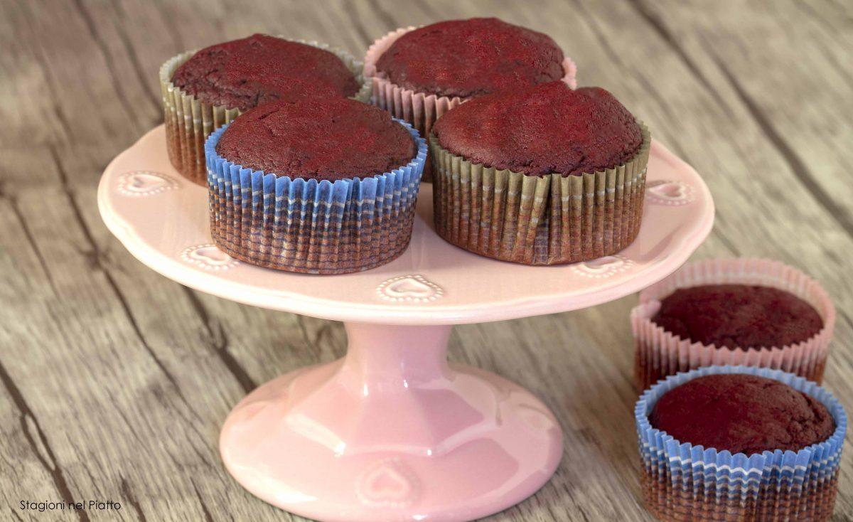 muffin cioccolato e barbabietola
