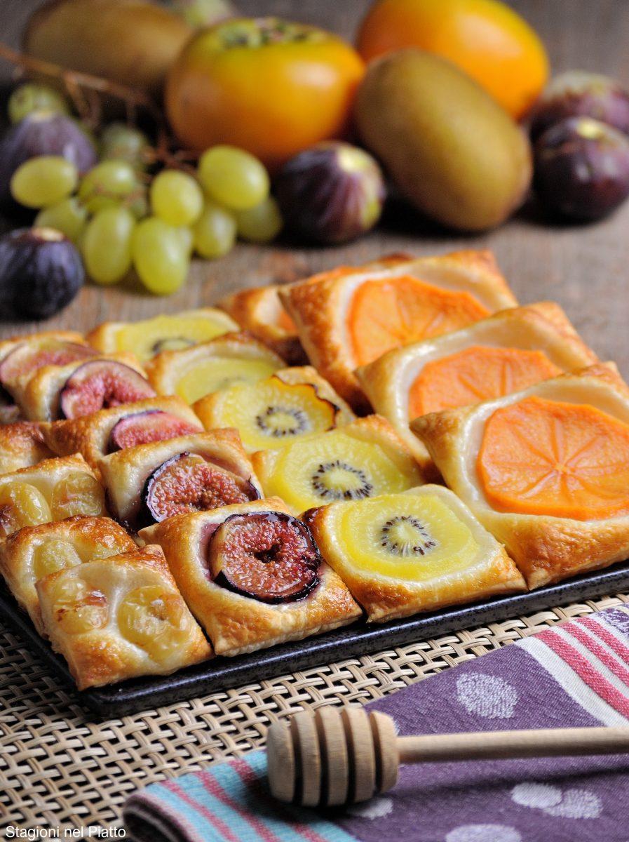 sfogliatine dolci alla frutta autunnale